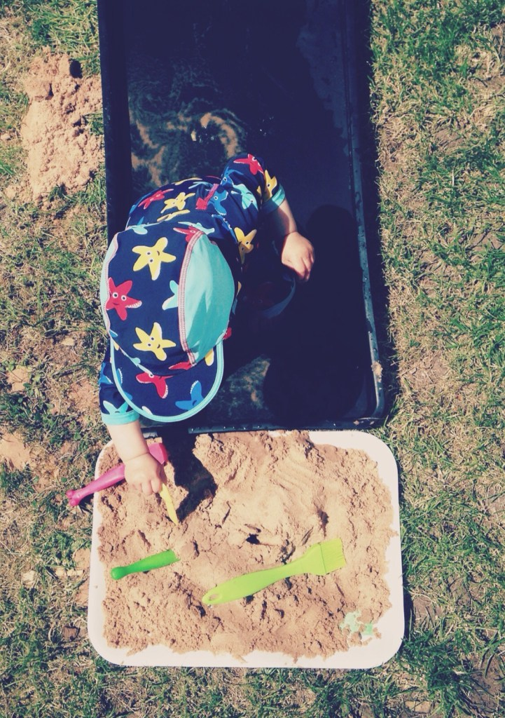 A Sensory Play Session in the Garden