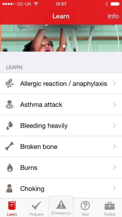 Download this free first aid app from the British Red Cross
