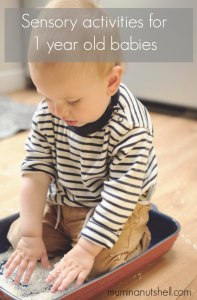 Sensory activities for babies and toddlers which you can do at home