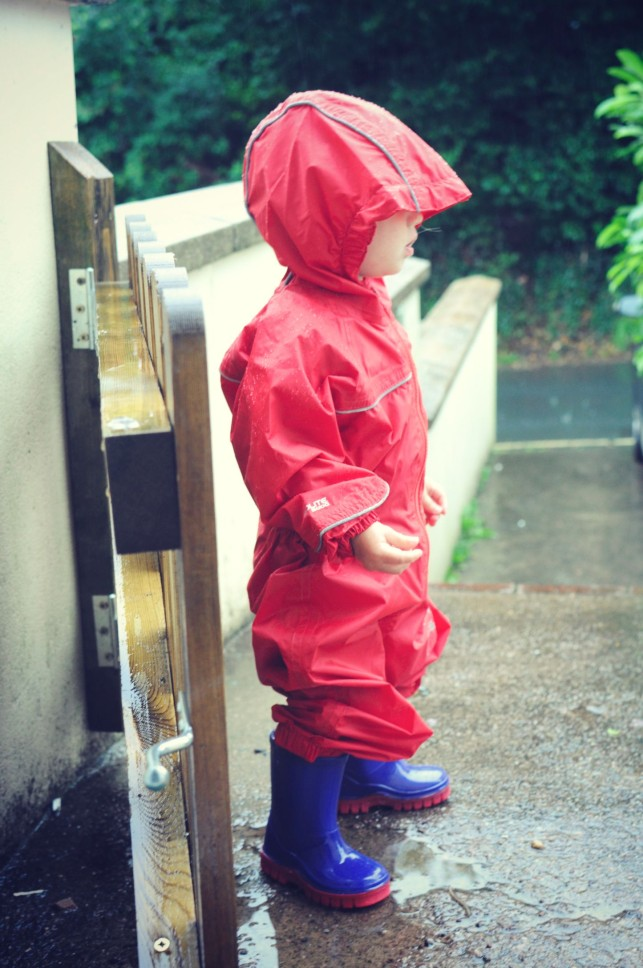 rain didn't stop play for this toddler