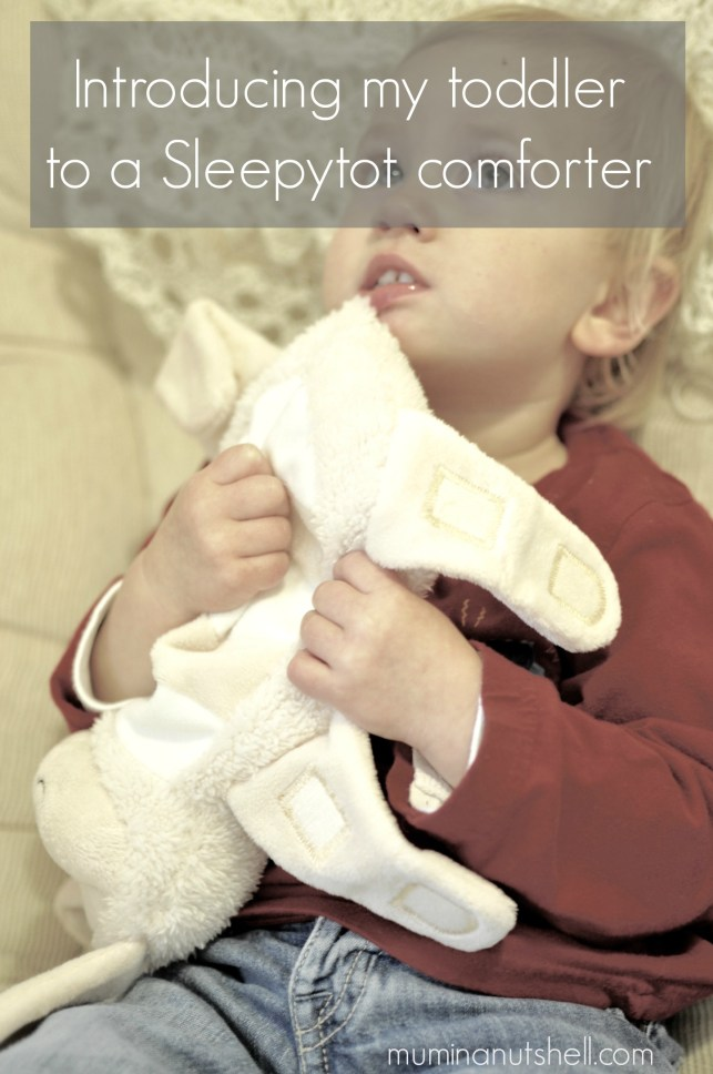 Introducing My Toddler To A Sleepytot Baby Comforter |review
