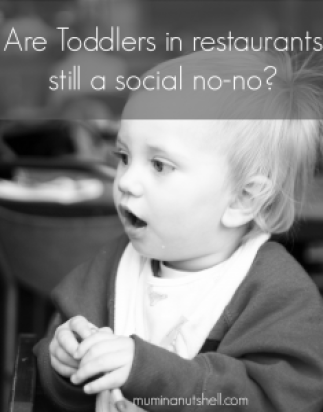 Should we allow toddlers into restaurants or should they be confined to the likes of fast food and family only restaurants.