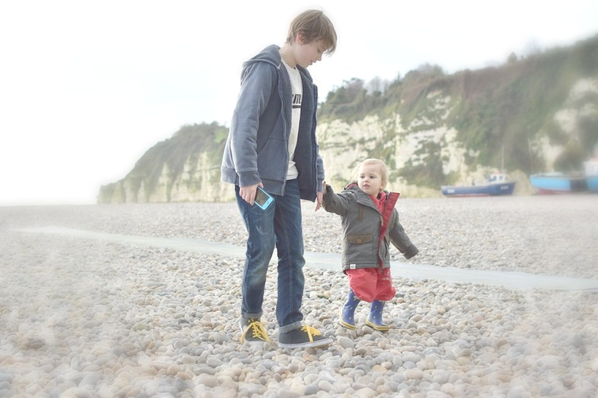 My Sunday photo; brothers on the beach