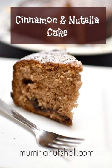 A deliciously light yet tasty cake flavoured with cinnamon and nutella. almost too good to be true!