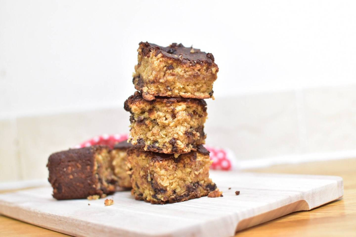 Chocolate Chip Oat Squares - A great after school snack