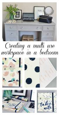 Creating a multiuse workspace in a bedroom