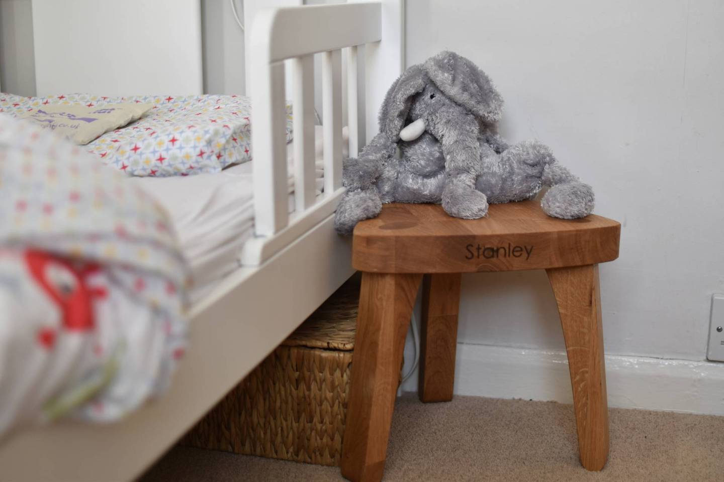 A Simply Beautiful Personalised Solid Oak Stool