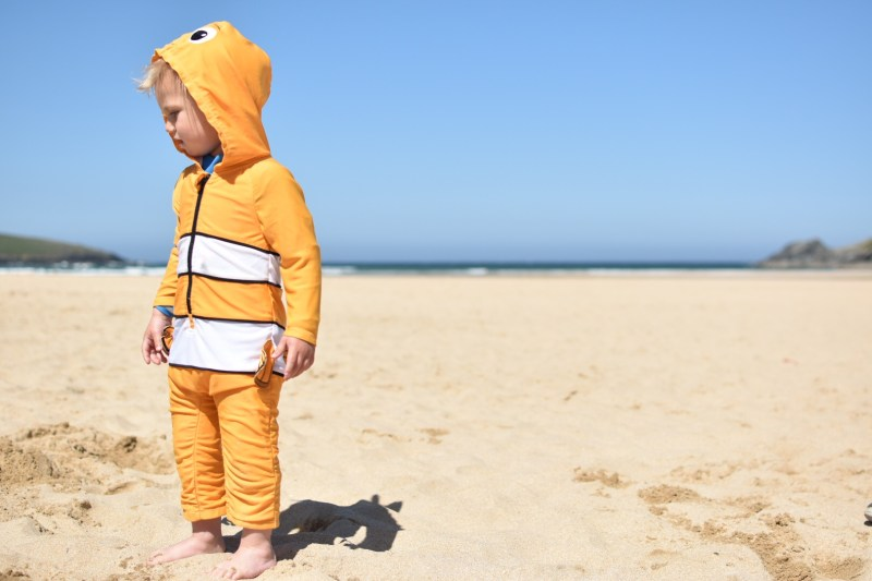 I think that a sun suit is a travel essential for a holiday with toddlers