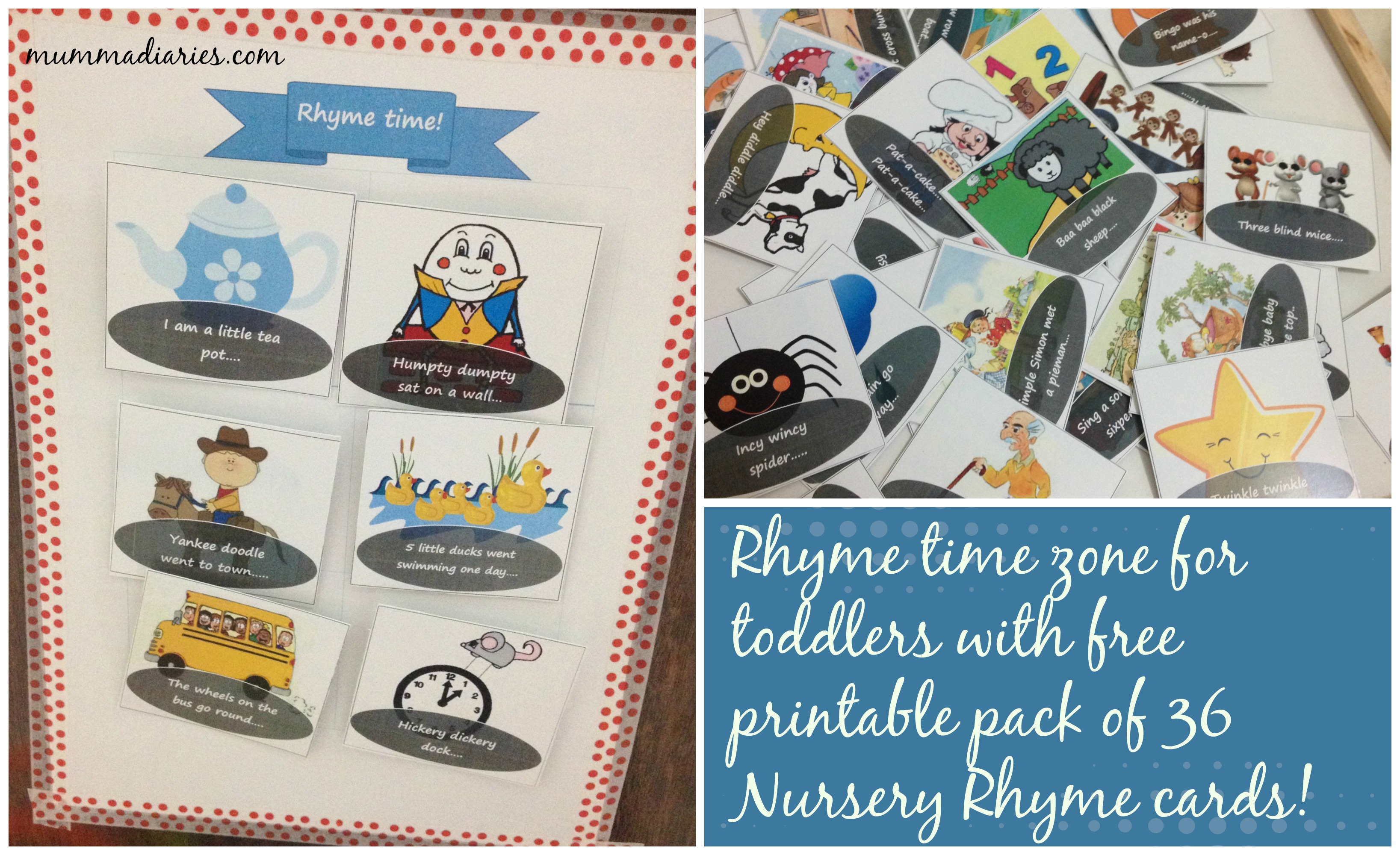 Nursery Rhyme Time Zone W 36 Free Nursery Rhyme Cards