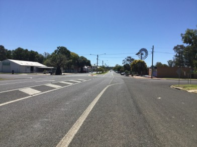 View up the street in Mitchell.