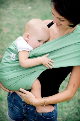 Jazslings Baby Slings. Made from an all natural, breathable fibre, these baby slings fold up small and are perfect for busy parents.