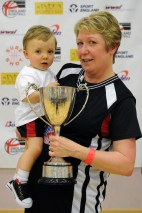 Winning trophies with Nana