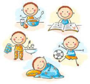 A set routine helps a child to be more organised and productive throghtout the day.