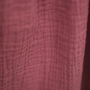 Bonnet – Haube aus Musselin – zuckerwattenrosa