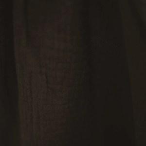 Bluse – Musselin – dunkles schokobraun