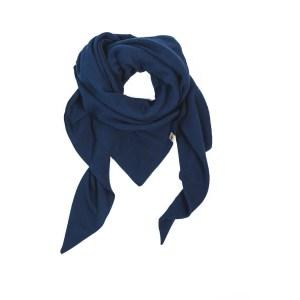 XXL-Musselintuch – dreieckig leicht – marineblau