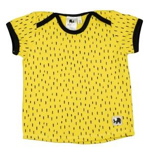 kurzarm Shirt – Striche – senfgelb
