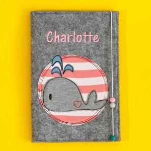 Uheft-Hülle – Wal – Charlotte