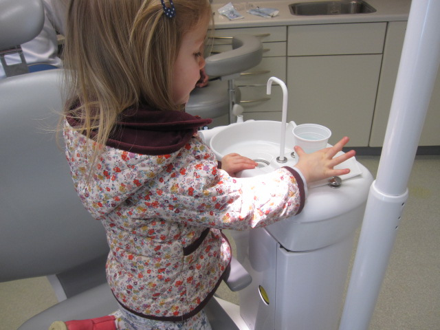 Toddler twins first dentist visit