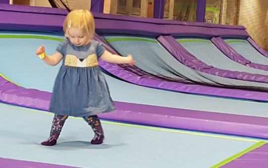 Trampolining with toddlers