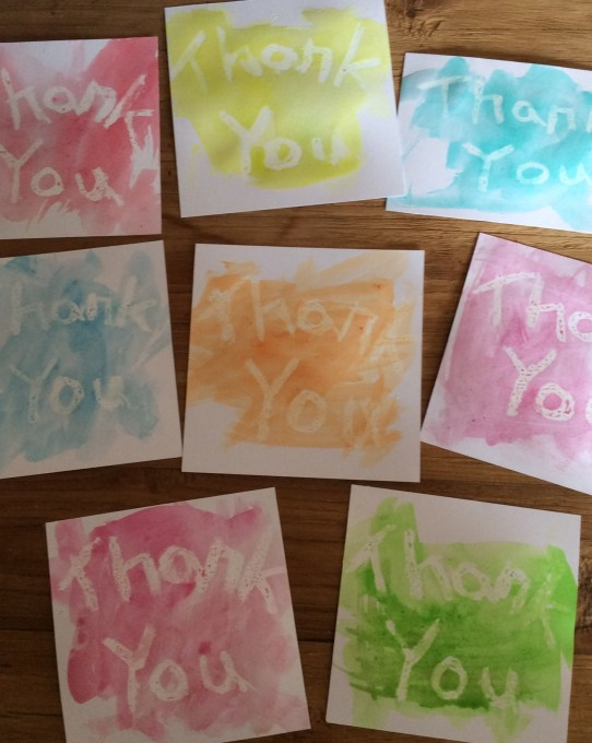 Fun Toddler Thank You Cards