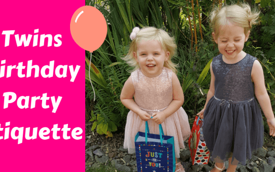 Birthday Party Etiquette with Twins
