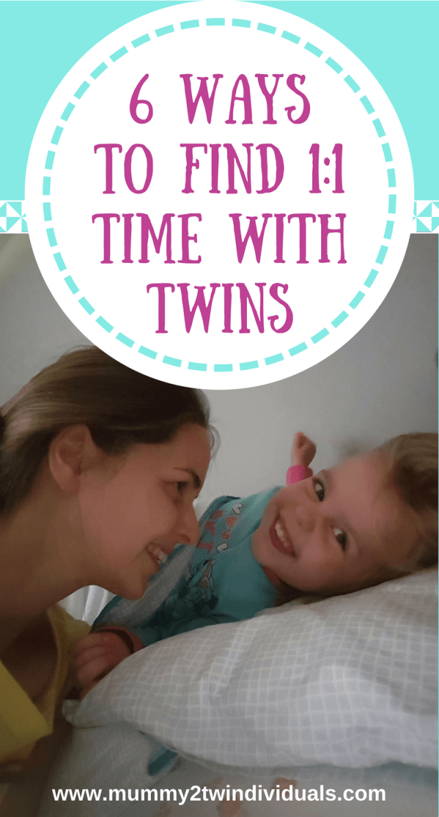 With twins, they always have to share your time. Here are six ways that give them some alone time with their parents. Even a few minutes a day is better than nothing.
