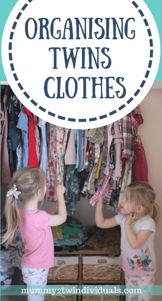 Organising clothes for twins is tricky. Here are some tips to get the clothes under control.