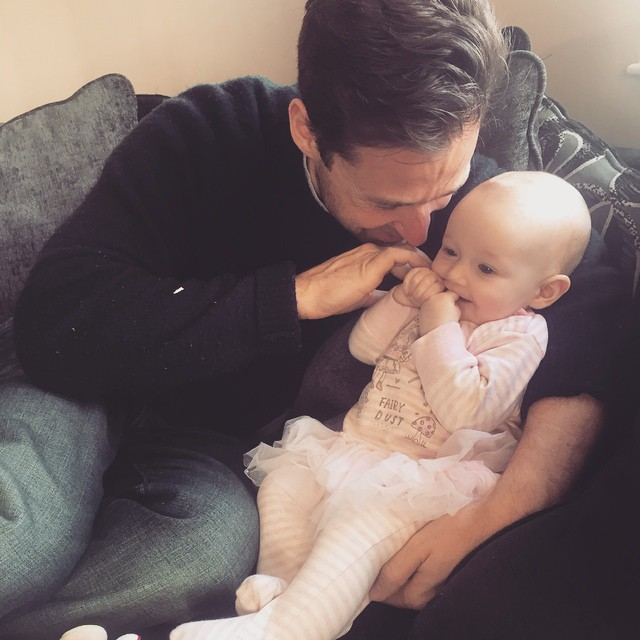 Ava is very pleased to have her Daddy home and so am I :)
