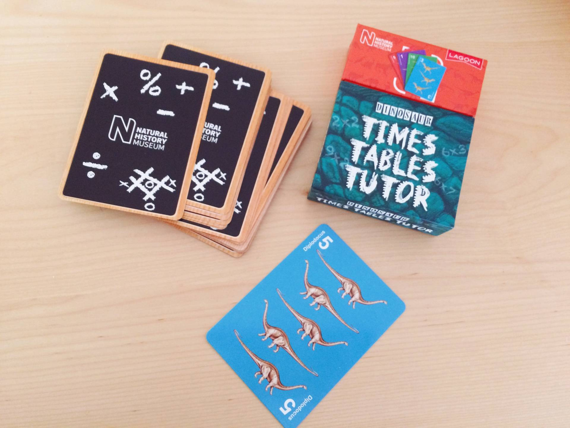 Dinosaur Times Tables Tutor cards By the national history museum review and giveaway