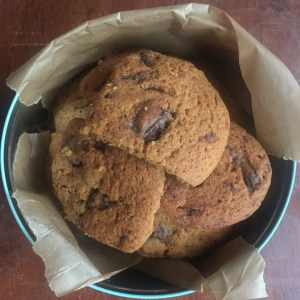 Choc Chip Cookies (dairy, egg, nut and soya free, vegan)