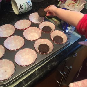 Cookie Surprise Cupcakes using Tesco Free From Cake Mix