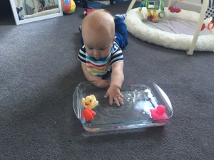 baby play, water play, activity, tummy time