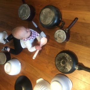 fun, pots and pans, activity, baby play, toddler play, spatulas, drum circle