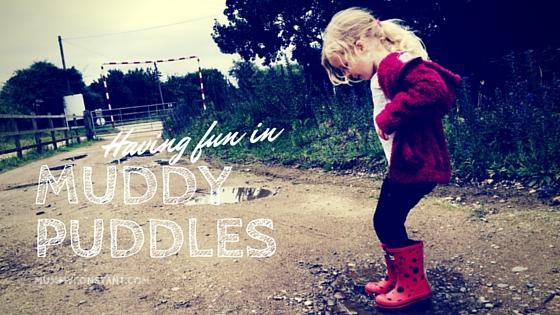 Having fun in muddy puddles