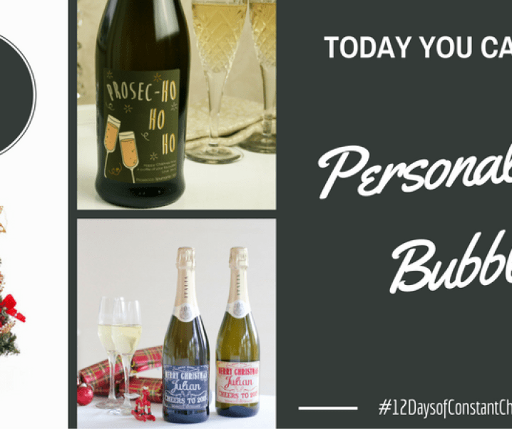 Day 3 – Win a personalised bottle of bubbly #12DaysofConstantChristmas