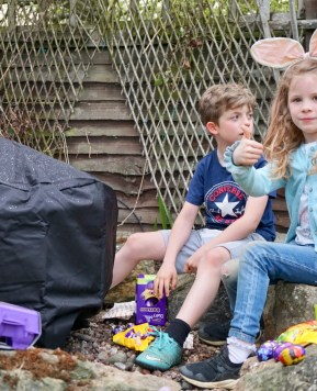An Easter egg hunt in our new home 2019