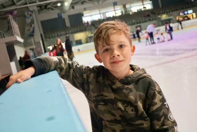 Noah ice skating