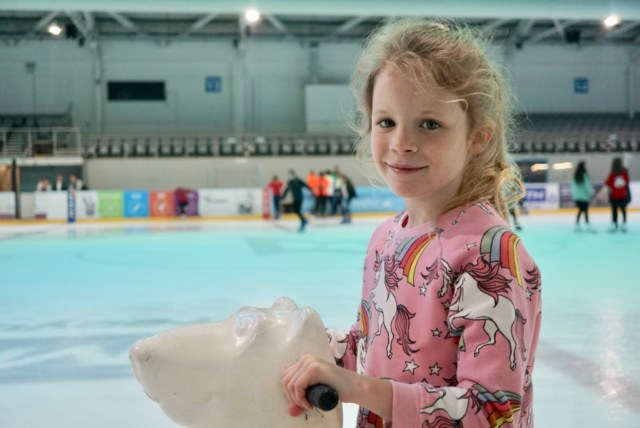 Isla ice skating