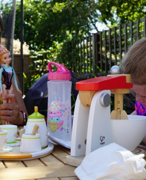 Make believe play: opening our tea rooms