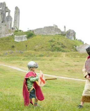 A visit to Corfe Castle, National Trust