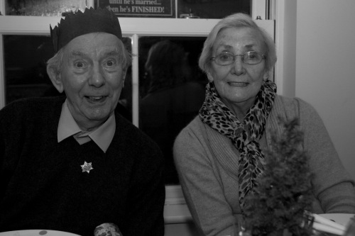 Grandparents at Christmas time