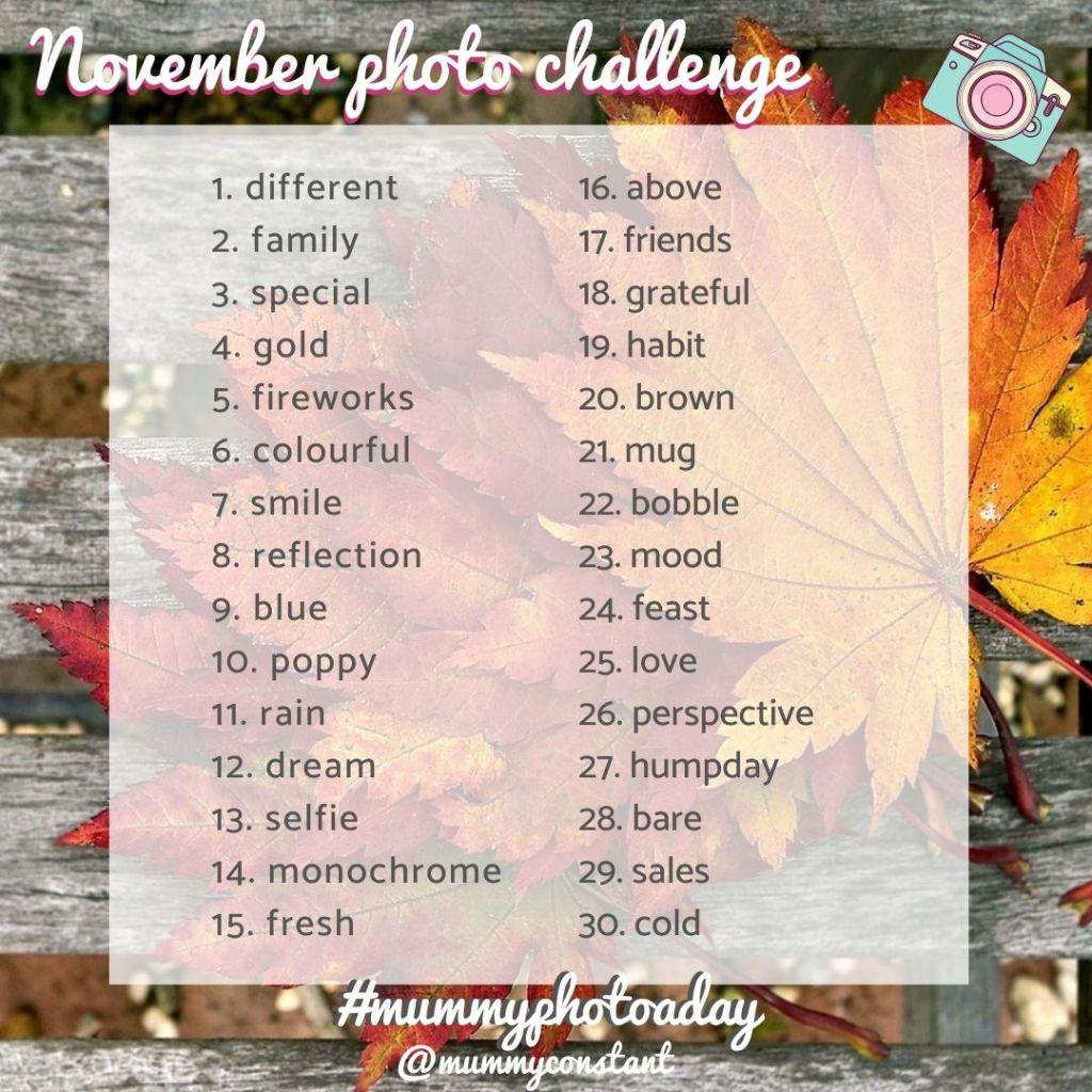 November Photo Challenge 2019