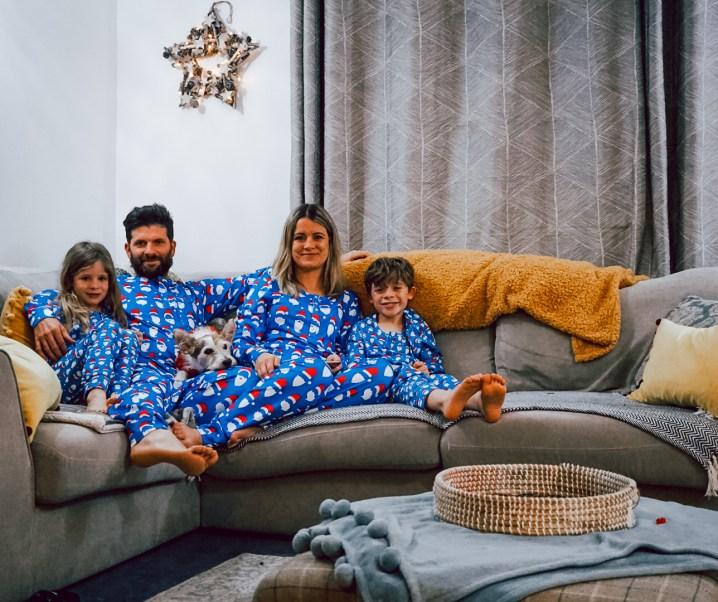Matching family pyjamas for Christmas