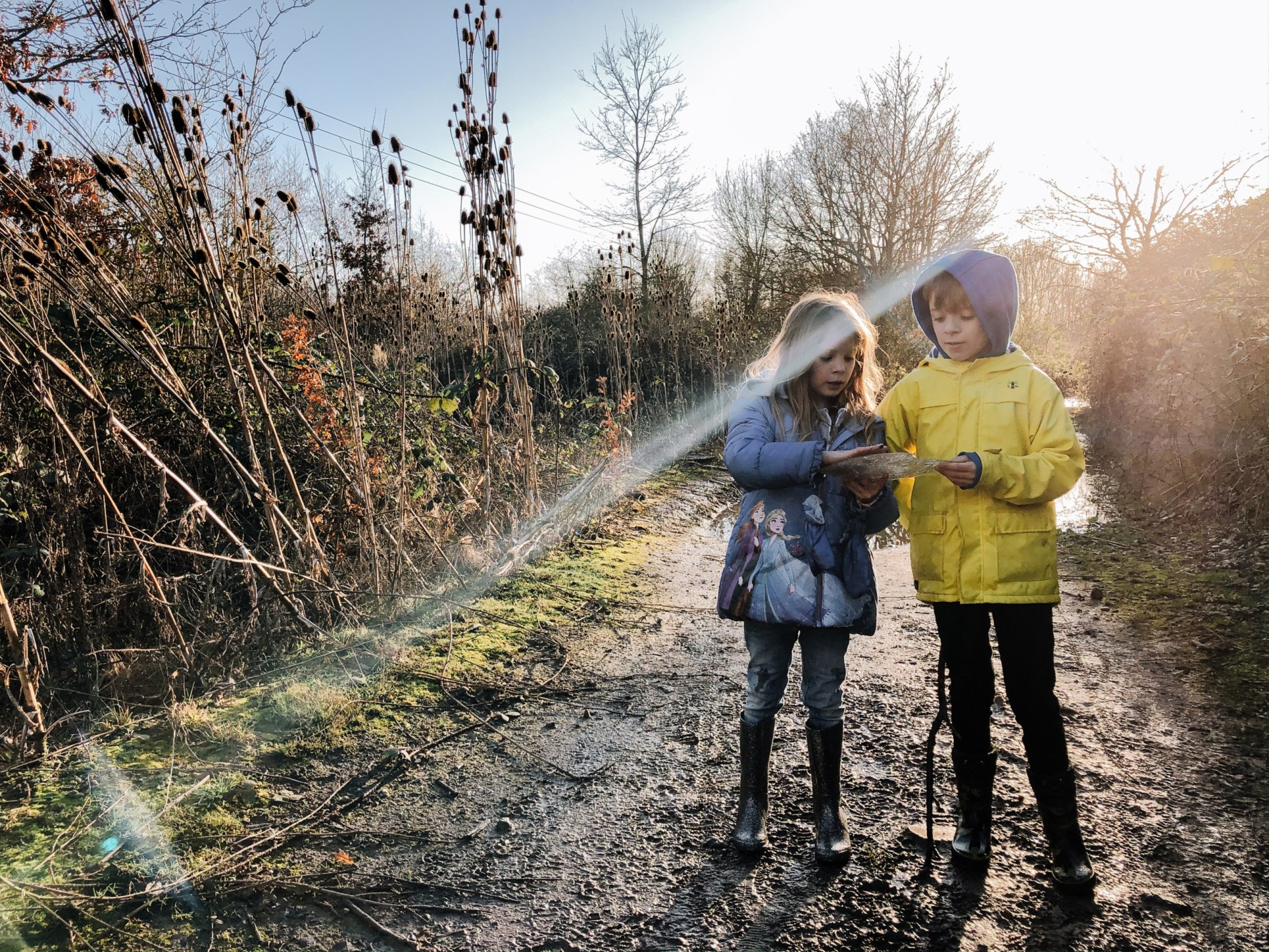 kids winter walk