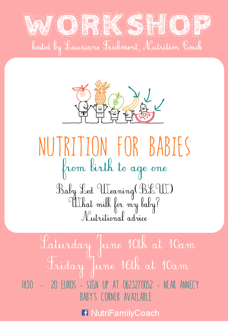 Nutrition Workshop for babies - Nutri Family Coach