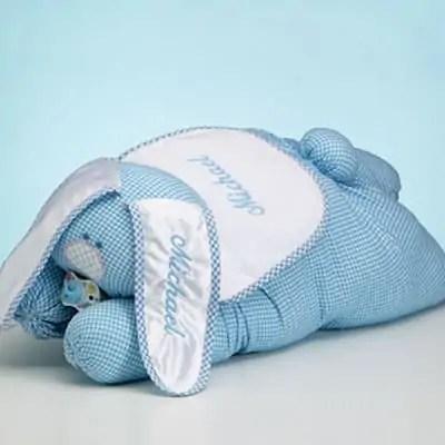 Personalized Snuggle Bunny Blanket (Boy)