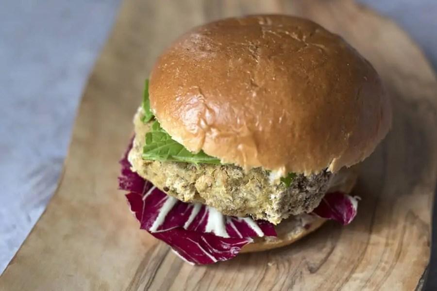 Sweetcorn and Chickpea Veggie Burger