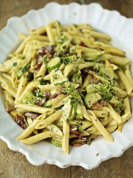 Courgette Carbonara - Jamie Oliver
