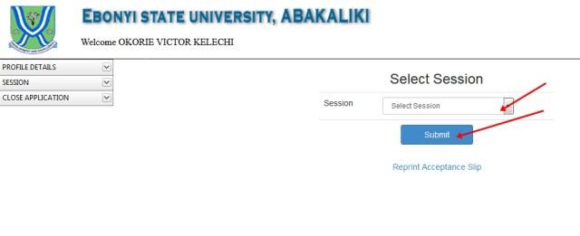 EBSU Semester Result Checkler